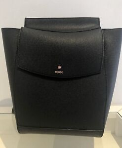 Mimco Black Pebbled Leather Backpack as new
