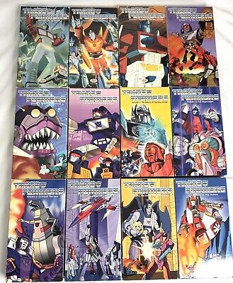 The Original Transformers Vhs Volume 1 -12 1999 Very Rare Complete 12 Tape Set