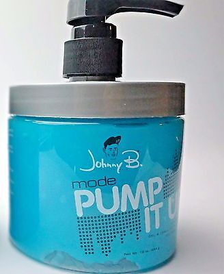 1 Johnny B  Mode Authentic Hair Styling Gel Extra Firm With Pump 16 Oz