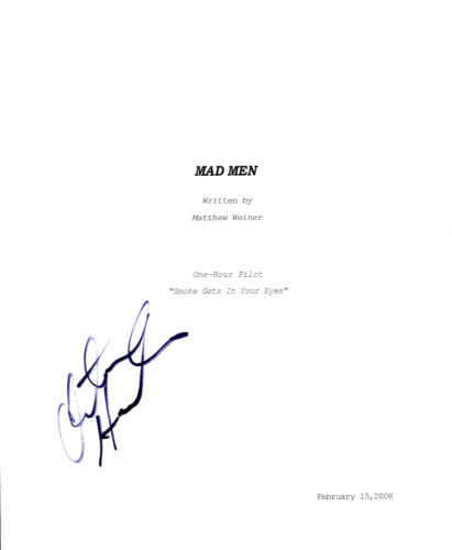 CHRISTINA HENDRICKS HAND SIGNED 'MAD MEN' JOAN FULL PILOT EPISODE SCRIPT w/COA