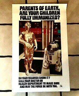 Original 1979 Star Wars C3PO & R2D2 Poster for Immunization, US Dept of HEW