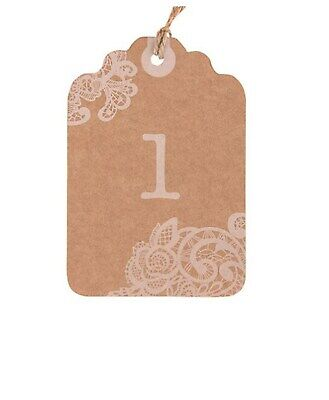 Kraft Table Number Cards Tags for Rustic Country Wedding Reception Party Q27207](Rustic Centerpieces For Weddings)