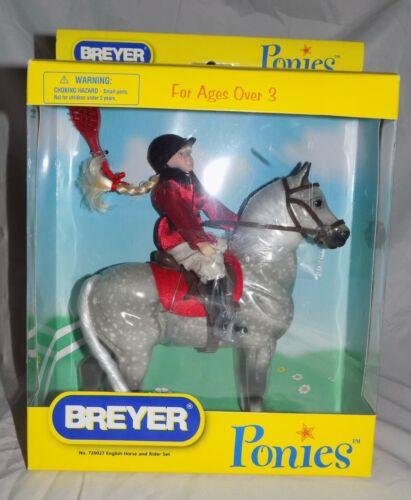NEW! BREYER Ponies 2006 Gray Speckled Horse & English Rider / Doll Set 720027!