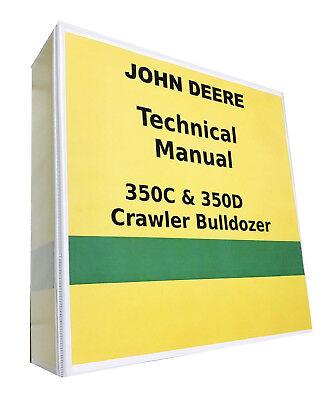 John Deere 350d Crawler Bulldozer Technical Service Repair Manual 857 Pages