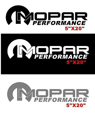 Mopar Performance Decal Sticker Window Windshield Vinyl Graphics Dodge Vehicles