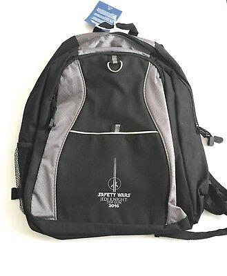 Safety Wars Jedi Knight Top Gun Waste Management Backpack 2016 New