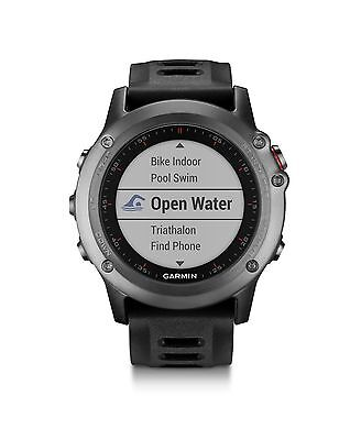 Garmin fenix 3 Gray with Black Band GPS Outdoor Navigation Watch 010-01338-00