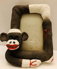 Sock Monkey Stone Resin Heavy Photo Picture Frame Room ...