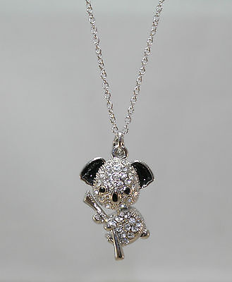 Koala Bear Charm Pendant With Matching Silver Tone Necklace Chain N01