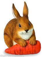 Resin Rabbit With Carrot Ornament - Figure - Animal Statue - Garden Ornament -  - ebay.co.uk