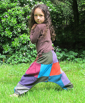 Childrens Kids Harem Trousers Girls Boys Cotton clothes Baby Aladdin Pants     - Harem Girls Aladdin