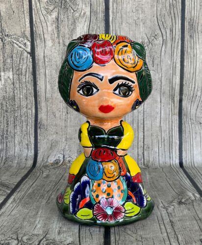 Frida Kahlo Mexican Talavera Figurine