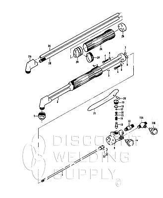 Repair Kit - Victor St 1000 Cutting Torch Complete Rebuild Kit Av1000rk