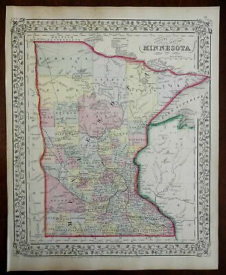 The Twin Ports Superior WI /& Duluth MN c1915 map 36x17