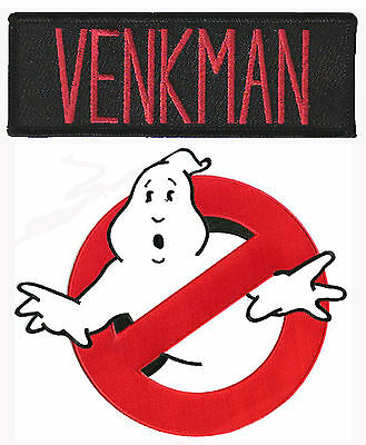Ghostbusters - Venkman + no Ghost - Uniform Kostüm Patch - Aufnäher Set - - Ghostbusters Venkman Kostüm