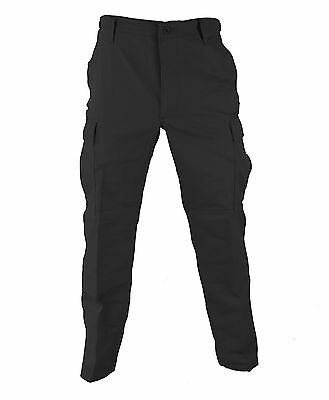 Regular Ripstop Bdu Pants - Black BDU Tactical Military Pants Propper Uniform Gear Zipper Fly 60/40 Ripstop