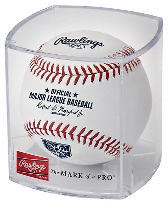 Rawlings Official Tampa Bay Rays 20th Anniversary MLB Game Baseball - Cubed  - Official Mlb Tampa Bay