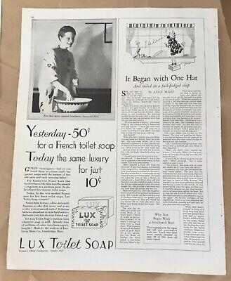Lux toilet soap 1927 original vintage print 20s art illustration beauty portrait