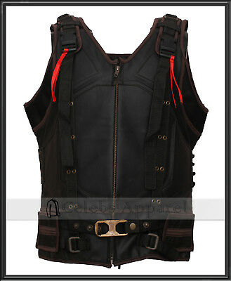 The Dark Knight Rises Bane Leather Vest Jacket Cosplay Halloween Costume](Bane Dark Knight Rises Costume Halloween)