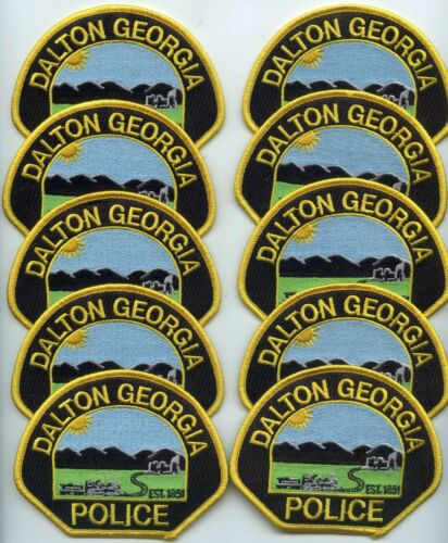 DALTON GEORGIA Patch Lot Trade Stock 10 Police Patches POLICE PATCH