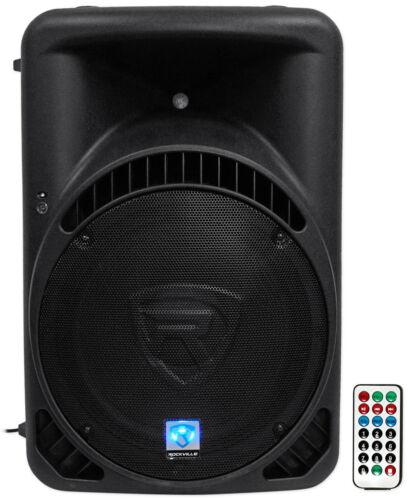 "Rockville RPG15BT 15"" Powered 1000W DJ PA Speaker BlueTooth, USB, SD, EQ, Remote"