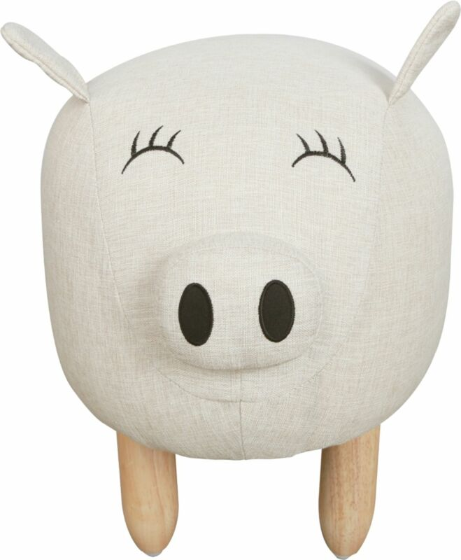 Karla Dubois - Piggy the Pig Kids Stool - Beige