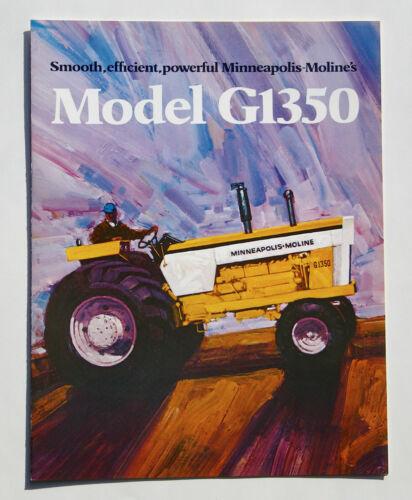 1972 Minneapolis Moline Model G1350 Tractor Advertising Brochure