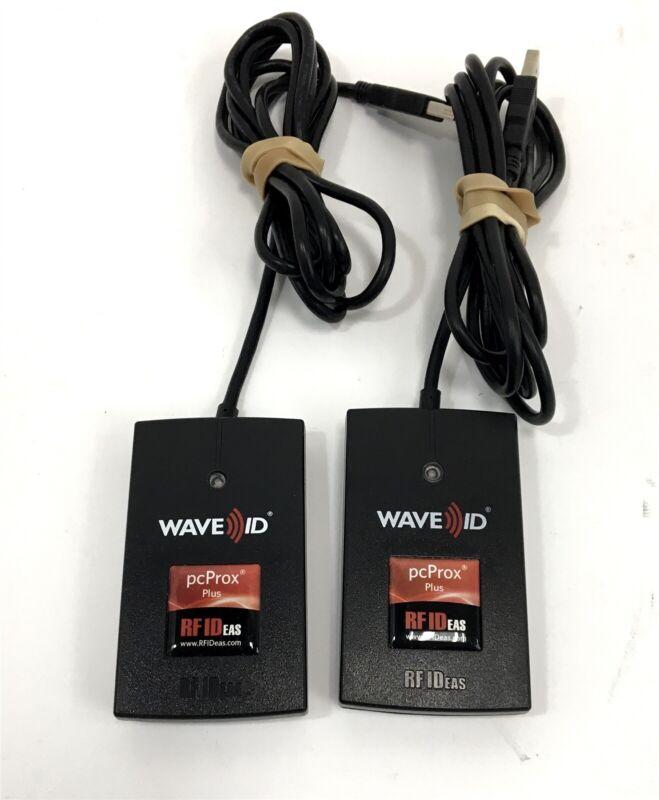 Lot of 2 RFIDeas pcProx Enroll Plus Series USB Reader RDR-80582AKU RFID