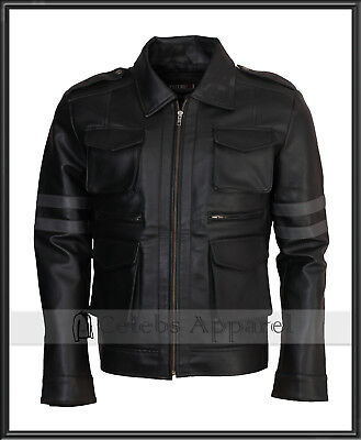 Resident Evil 6 Leon Kennedy RE6 Mens Fashion Gaming Leather Jacket Costume