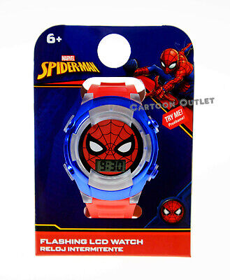 SPIDERMAN WATCH KIDS BOYS DIGITAL WRISTWATCH FLASHING LIGHTS RELOJ DC COMICS