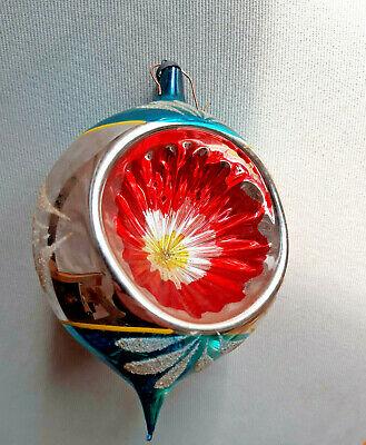 vintage- MAXI pallina in vetro soffiato x albero di babbo natale/christmas