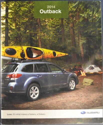 2014 Subaru Outback Catalog Brochure 2.5i 3.6R Limited Excellent Original 14