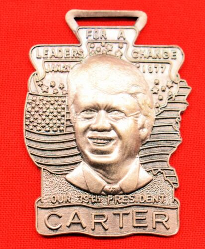 President Jimmy Carter Original Vintage Metal Watch Key Chain type Fob Collect