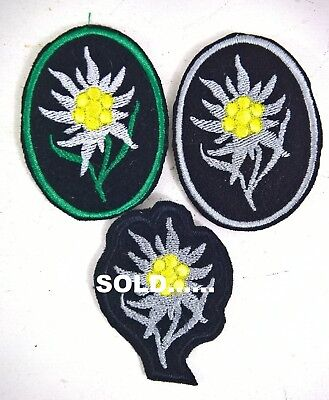WW2 GERMAN EDELWEISS PATCH X1