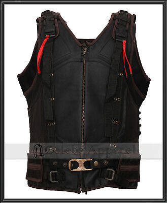 The Dark Knight Rises Tom Hardy Bane Leather Vest Biker Jacket Halloween Costume](Bane Dark Knight Rises Costume Halloween)