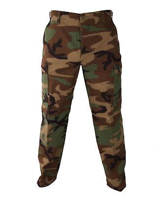 Woodland Camo MENS  BDU Cargo Pants - Mens Military Camouflage Pants S TO - Camo Military Bdu Pants
