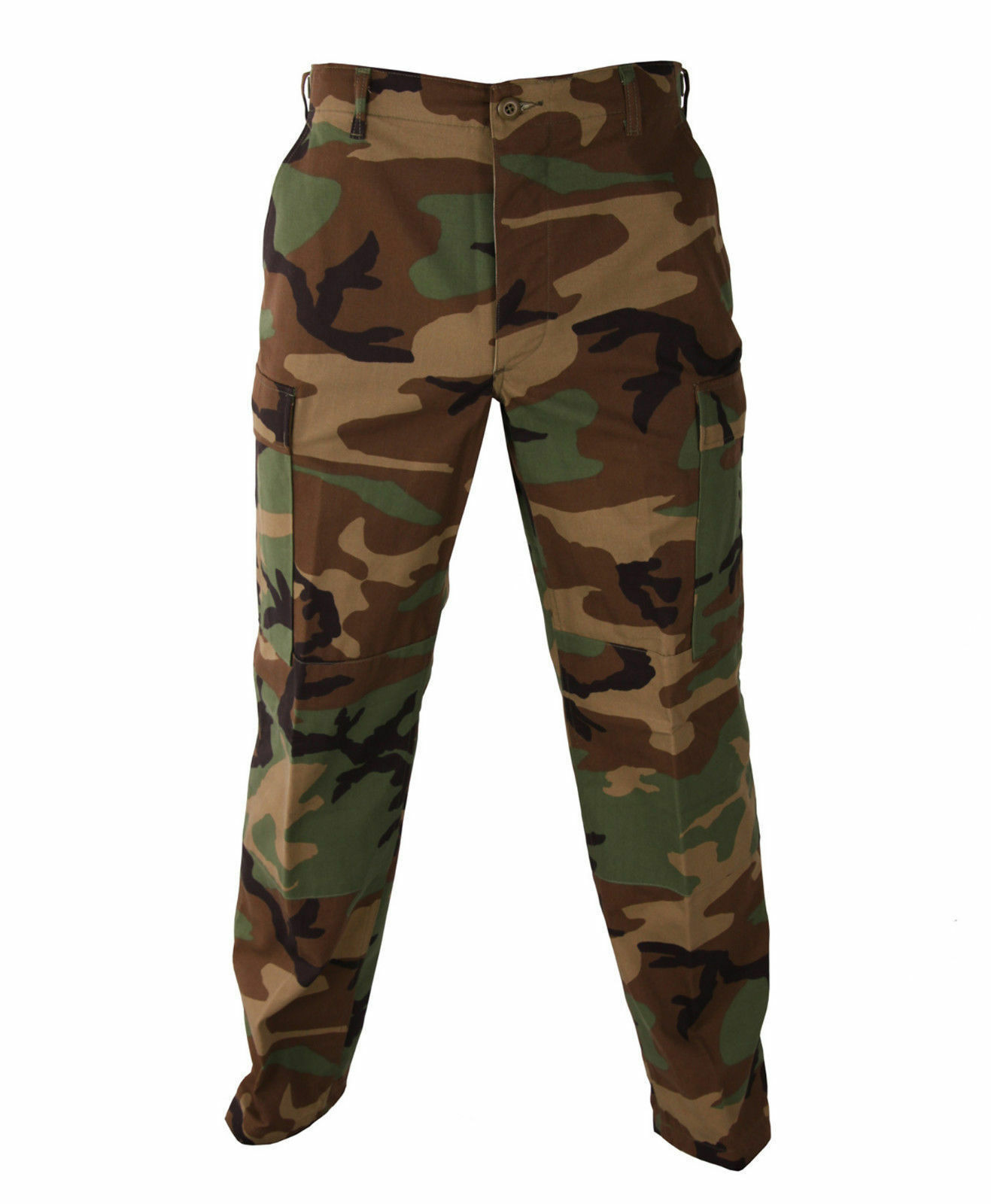 Woodland Camo MENS  BDU Cargo Pants - Mens Military Camoufla