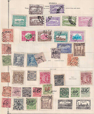 INDIA - INTERESTING UNCHECKED USED & MINT GROUP REMOVED FROM PAGE - X617