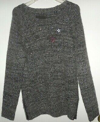 MAISON SCOTCH women's Sequin Biker Sweater removable star pins Sz 4 fits Mediium