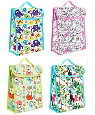 Boys Girls School Insulated Lunch Bag Cool Box Kids +FREE Freezer Block Unicorn