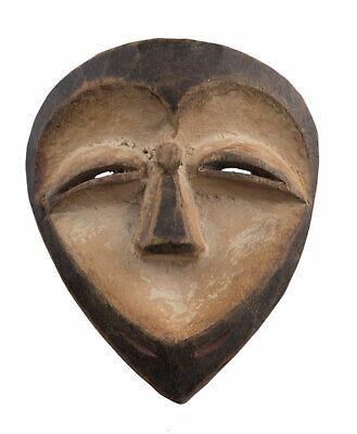 Mask Kwele African Masquette Gabon 13 cm Miniature Art First 16913