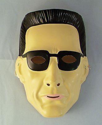 Vintage 1992 Terminator Arnold Schwarzenegger Vacuform Plastic Halloween Mask