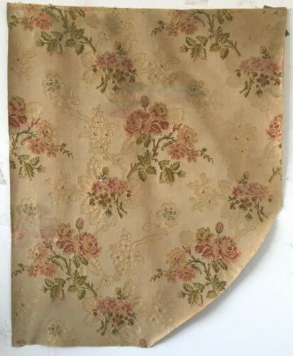 Beautiful 19th C. French Silk  Woven  Jacquard Fabric (2662 )