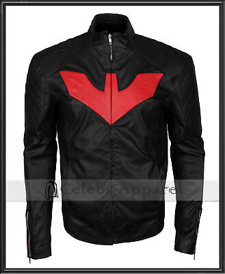 TV Series Batman Beyond Comics Cosplay Mens Fashion Leather Jacket Costume - Adult Batman Beyond Costume