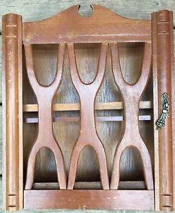 Vintage wood spice rack / cabinet