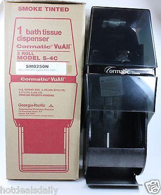 Smoke Tinted 2 Roll Toilet Paper Dispenser Bath Tissue Commercial Bathroom