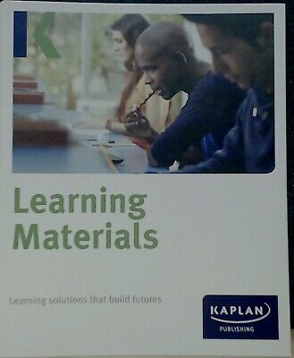 Kaplan Learning Materials Folder of Management Accounting 2014-15