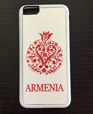 Apple IPhone 6+ Plus Skin Cover Plastic Case White Armenian Pomegranate Armenia
