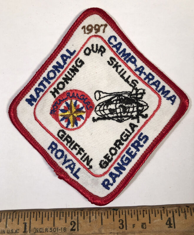 Vintage 1997 Royal Rangers National Camp-A-Rama Patch Scouts Griffin Georgia