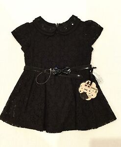 Girls Sista Black Lace Dress with Belt from Target Size 1 NWT Keswick West Torrens Area Preview